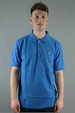 FILA Vintage BRIZZI SS17VGM014 Mens Imperial Blue Short Sleeve Polo Shirt 100% C