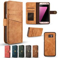 Retro Magnetic Flip Removable Leather Wallet Case Cover F Samsung Galaxy S8 Plus