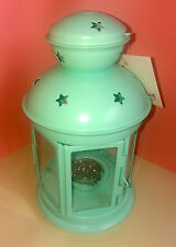 Ikea Rotera Pale Green Lantern Tealight Holder plus Sparkly Scented Tealight