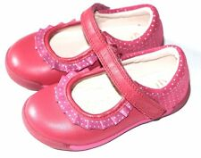 Clarks Softly Stef girls Berry Leather shoes sizes 3.5/19 - 6.5/23 RRP £45