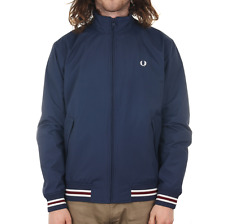 Fred Perry Funnel Neck Tipped Bomber Jacket - Carbon Blue
