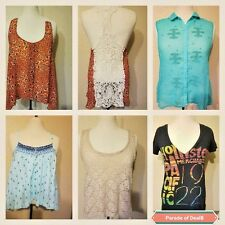 Women Hollister Shirt Blouse Tee Top Sheer Eyelet Graphic Animal Floral Medium M