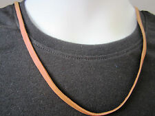 Deerskin Lace Leather and Pure Antiqued Sterling Silver Necklace - mens/womens