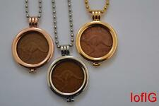 AU One Penny Coin+Necklace+Pendant Holder.Your Lucky Birth Year Coin 1964-1911