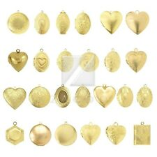 New Metal Pendants Jewelry Making Craft Gold Round/Oval/Heart/Hexagon/Rectangle