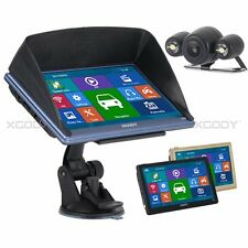 "XGODY 8GB 7"" GPS Navigation Car Truck HD Bluetooth AV-IN Rearview Camera USA Map"
