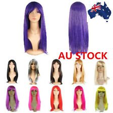 Womens 50cm Long Straight Wigs Cosplay Halloween Party  Cosplay Full Hair Wigs
