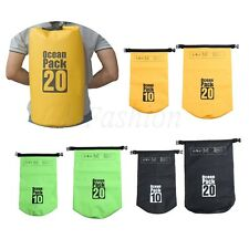 10/20L Waterproof Dry Bag Sack Backpack Pouch Floating Boating Kayaking Camping