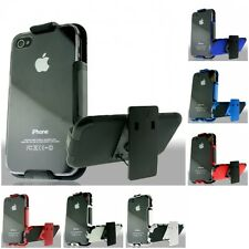 For Apple iPhone 4/4S Hard Kickstand Phone Case Hybrid Clip Holster