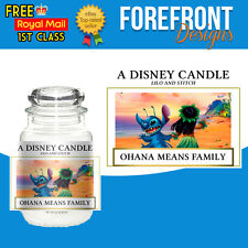 Personalised Lilo and Stitch Disney - Candle label/sticker, Perfect bday/gift