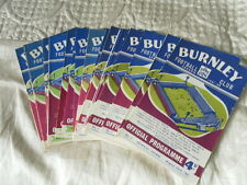 BURNLEY HOME PROGRAMMES FROM 1960 - 3 CHOOSE FROM LIST