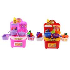 Plastic Simulation Kitchen Cookware Set Toy with Music Light Role Play Toy