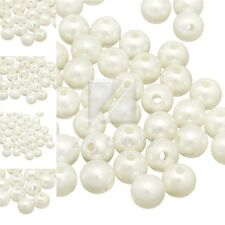 4/6/8/10/12mm Acrylic Pearlized Round Beads Beige DIY Jewelry Making Supplies