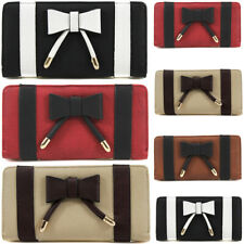 Fashion Ladies Bow Design Bifold Long Coin Purse Womens Wallet Card Holder New U
