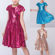 Kids Girls Sequin Pageant Party Prom Occasion Communion Formal Wedding Dress