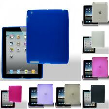 For Apple iPad 2/3/4 Case TPU Rubber Crystal Skin Phone Slim-Grip Cover