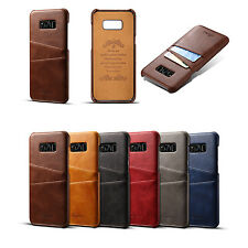 Slim Retro Leather Wallet Credit Card Slot Back Case Cover F Samsung Galaxy S8+