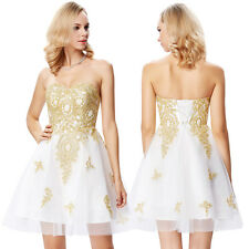 Short Applique Homecoming Cocktail Party Gown Prom Graduation Formal Mini Dress