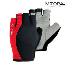 Men Red Half Finger Gloves Fingerless Bicycle Gloves Short Bike Cycling Outdoor