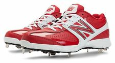New Balance Mens Low-Cut Baseball Cleat Shoes Red