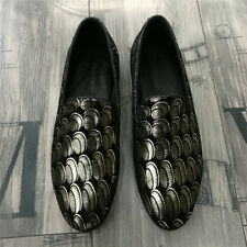 Stylish Mens Comfy Loafers Slip On Leather Moccasins Shoes Chic Flats Oxfords SZ