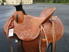 15 16 WADE ROPING RANCH TRAIL PLEASURE ROPER COWBOY LEATHER WESTERN HORSE SADDLE