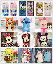 3D Cute Disney Cartoon For Samsung S/J/A Series Rubber Silicone Soft Case Cover