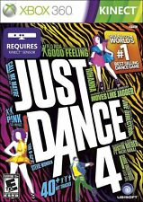 NEW! Just Dance 4 (Microsoft Xbox 360 Kinect, 2012) BRAND NEW & FACTORY SEALED
