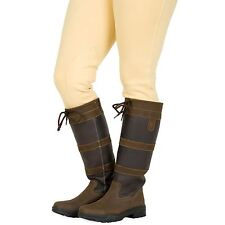 Adults Saxon Leather Water Resistant Walking Horse Riding Country Boot Size 4-10