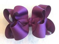 Girls hairbows Big hair bows double layer boutique bow Sugar Plum Purple Clips
