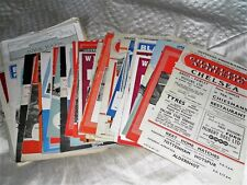CHELSEA AWAY PROGRAMMES FROM THE 1950s - CHOOSE FROM LIST