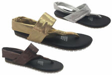 Ladies Shoes Wild Sole Anusha Summer Sandal Flats 6-10 Casual Gold Bronze Silver