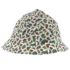 Crooks And Castles The Elite Paisley Bucket Hat Cap White NWT Free Shipping