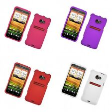 For HTC EVO 4G LTE Hard Snap-On Rubberized Phone Skin Case Cover