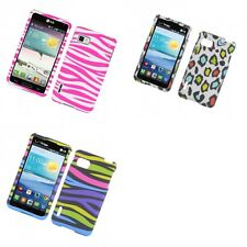 For LG Optimus F3 Sprint LS720 Hard Phone Case Design Rubberized Snap-On Cover