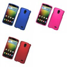 For LG Lucid 3 Hard Snap-On Rubberized Phone Skin Case Cover