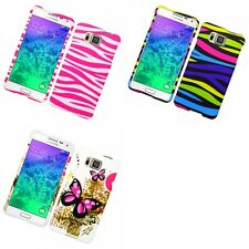For Samsung Galaxy Alpha G850 Hard Phone Case Design Rubberized Snap-On Cover