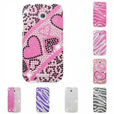 For HTC Desire 510 Case Diamond Bling Luxury Fashion Cute Hard Cover