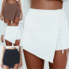 Hot Summer Women Skort Short Pants Low Waisted Mini Skirt Casual Culottes Shorts