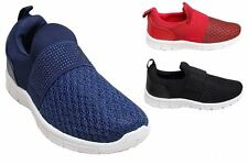 New Womens Diamante Stretch Comfortable Active Flat Casual Sport Trainers Shoes