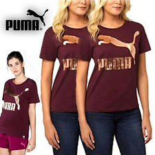 Womens Puma Archive Logo T Shirt with Large Gold Foil Puma Logo Size S M L XL