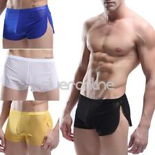 Men's Soft Breathable Sheer Mesh Boxer Briefs Shorts Underwear Underpants Trunks