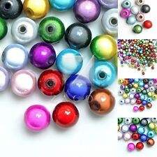 10/20/40/80/120pcs Acrylic Miracle Beads Round Jewelry 4/6/8/10/12mm Multi-Color