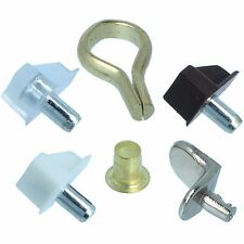 QUALITY PLASTIC / METAL SHELF SUPPORTS Plug Socket Peg Stud Banjo Hook Cupboard