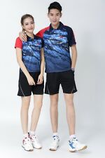 2017 Tennis men &women Tops table tennis badminton clothing Set T-shirt+shorts