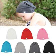 Infant Toddler Kids Boy Girl Warm Cotton Knit Baby Hat Crochet Slouch Beanie Cap