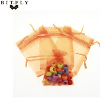 Lot Solid Color Sheer Organza Gift Bag Pouch Jewelry Wedding Christmas Favor