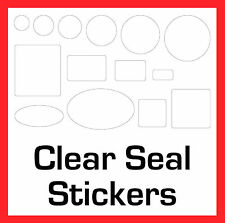 Gift Box Permanent Transparent Clear Seal Stickers Sticky Labels