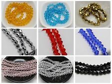 100pcs 6mm Bicone bead Faceted Crystal Glass Beads Color For Choice