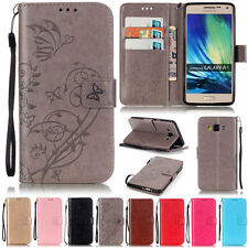 Butterfly Plant Wallet Leather Flip Tpu Case Cover Stand Card Holder For Samsung